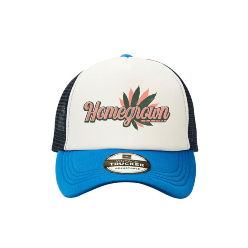 Green Smoke Room Homegrown Trucker Cap Blue