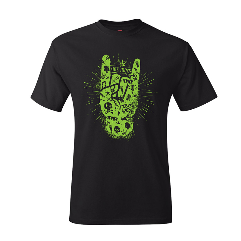 Die Joint Proudly Green Rock n Roll T-shirt